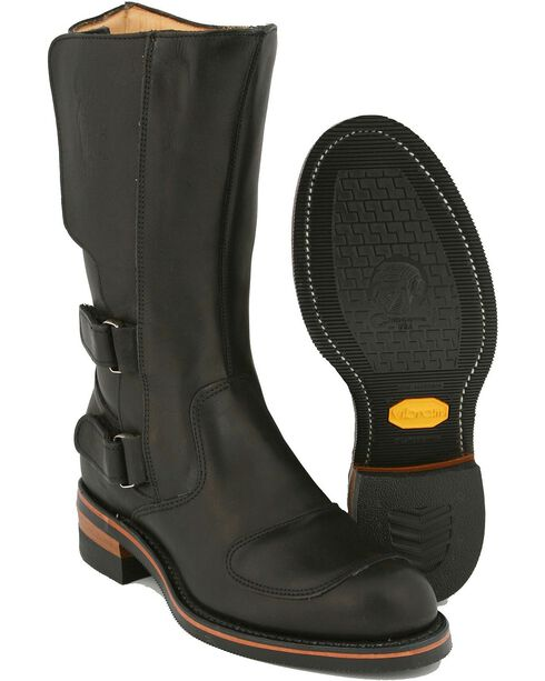 "Chippewa Men's Rally 12"" Euro Motorcycle Boots, Black, hi-res"