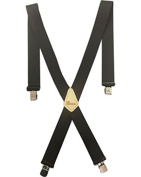 "Berne Men's 2"" Industrial Suspenders , Black, hi-res"