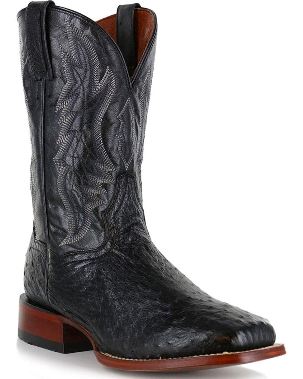 Dan Post Men's Ostrich Square Toe Exotic Boots, , hi-res