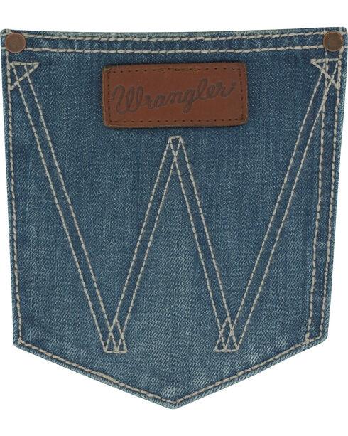 Wrangler Retro Men's Glendale Limited Edition Bootcut Jeans, Med Blue, hi-res