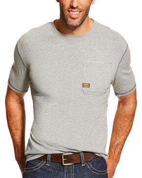 Ariat Men's Rebar Short Sleeve Shirt, Heather Grey, hi-res