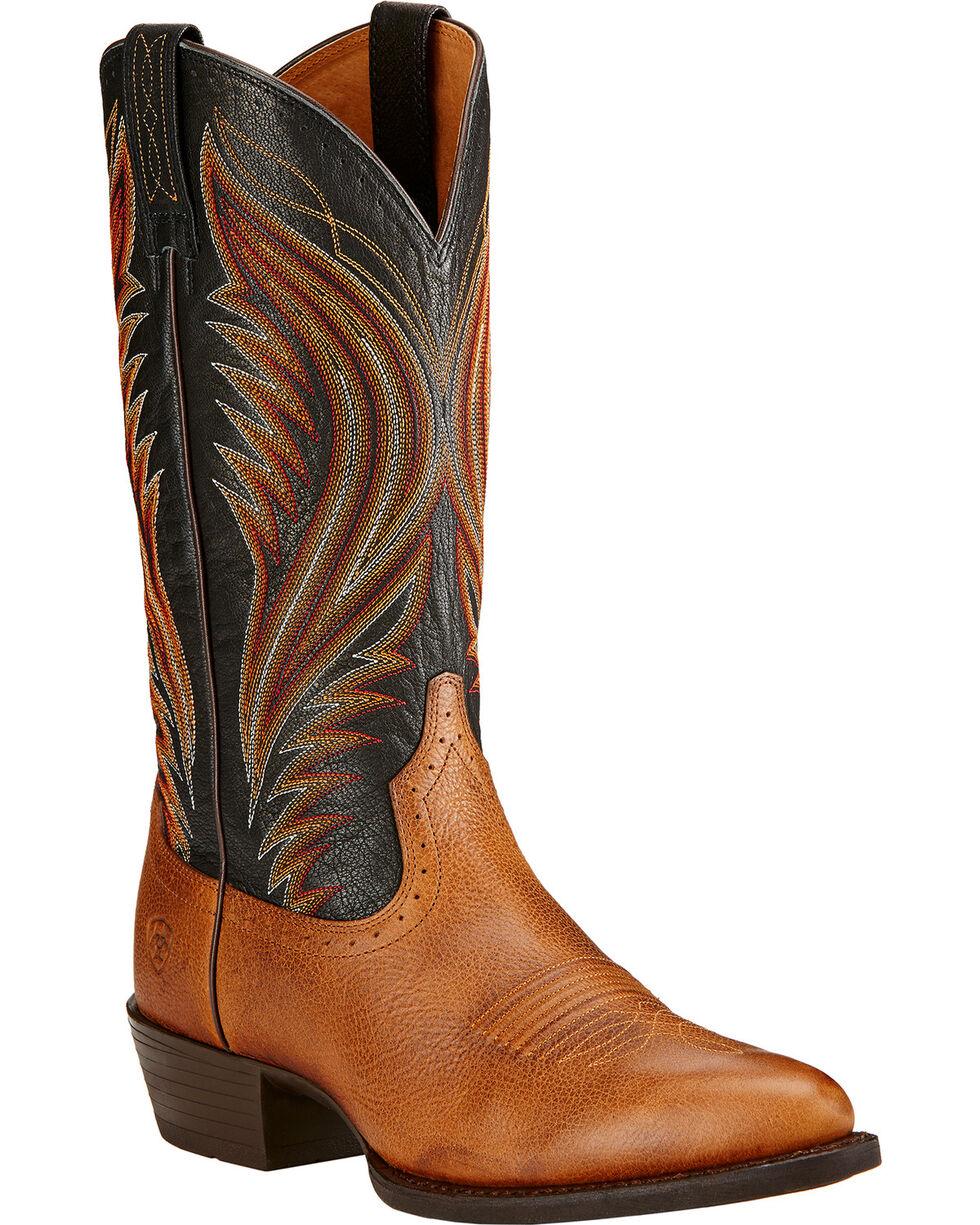 Ariat Men's Boomtown Western Boots, Copper, hi-res