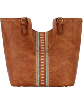 Bandana by American West Women's El Dorado Large Scoop Top Tote , Tan, hi-res