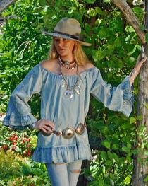 Tasha Polizzi Women's Blue Denim Kelli Top, , hi-res