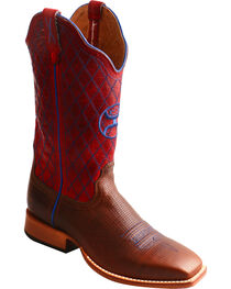 Twisted X Women's Hooey Diamond Stitch Cowgirl Boots - Square Toe, , hi-res