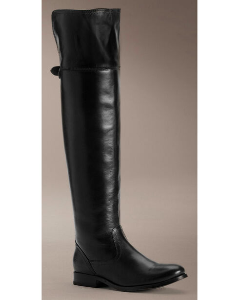 Frye Women's Melissa OTK Riding Boots - Round Toe, Black, hi-res