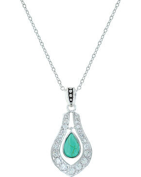 Montana Silversmiths Women's School of Nature Necklace, Turquoise, hi-res