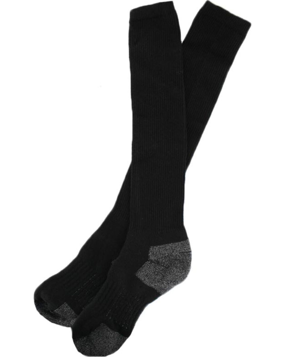 Boot Barn® Men's Western Boot Socks, Black, hi-res