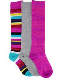 La De Da Girls' Pack of Three Knee High socks, , hi-res