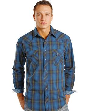 Rough Stock by Panhandle Slim Kentsdale Plaid Western Snap Shirt , Plaid, hi-res