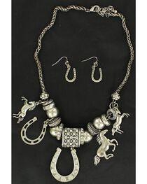 Blazin Roxx Western Charm Necklace & Earrings Set, , hi-res