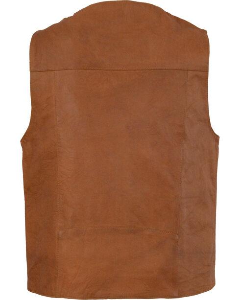 Milwaukee Leather Men's Western Plain Side Vest, Tan, hi-res