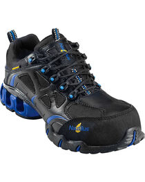 Nautilus Men's Black Nylon Microfiber Athletic Work Shoes - Composition Toe, , hi-res