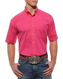 Ariat Solid Hot Pink Poplin Shirt, , hi-res