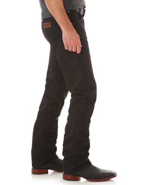 Wrangler Retro® Men's Black Slim Straight Jeans - Long, Black, hi-res