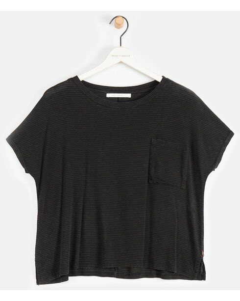 Friday's Project Women's Short Sleeve Pocket Tee, Black, hi-res