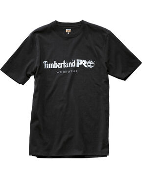 Timberland Pro Men's Workwear Cotton Core Logo Short Sleeve T-Shirt, Black, hi-res