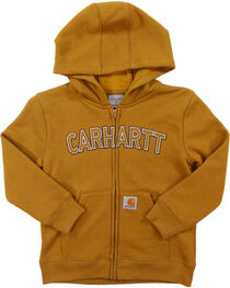 Carhartt Little Boys' Logo Fleece Zip Sweatshirt, , hi-res