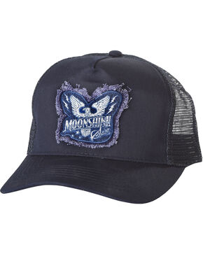Moonshine Spirit Men's Patch Logo Trucker Hat, Navy, hi-res