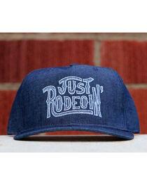 Dale Brisby Men's Just Rodeoin' Baseball Cap , Indigo, hi-res