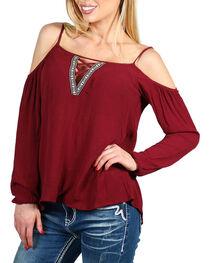 Teint Women's Cutout Long Sleeve Top, , hi-res