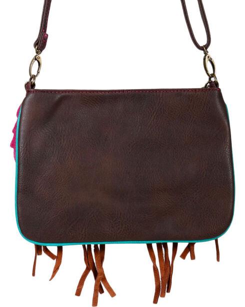 Trenditions Women's Aztec Tassel Crossbody Bag, Brown, hi-res