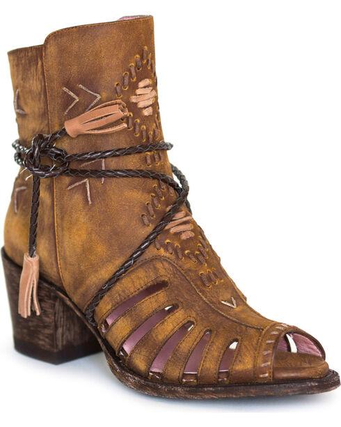 Miss Macie Women's Brown Singing Brook Short Boots - Round Toe , Brown, hi-res