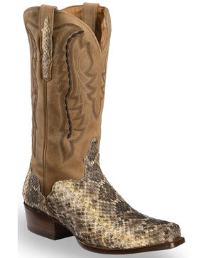 El Dorado Men's Eastern Diamondback Rattlesnake Exotic Boots, Natural, hi-res