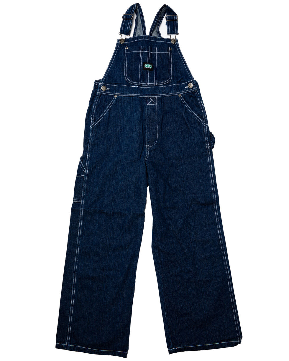 Key Industries Boys' Denim Overalls - 8-16, Denim, hi-res