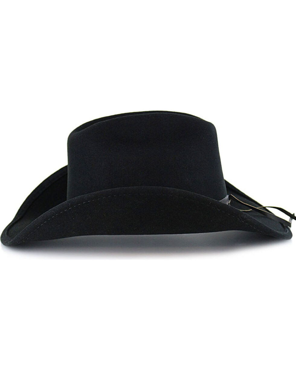 Cody James® Boys' Sidekick Wool Hat, Black, hi-res