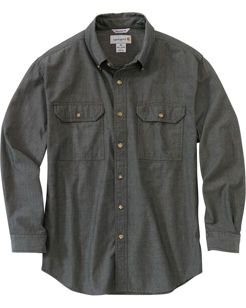 Carhartt Fort Long Sleeve Shirt, Black, hi-res