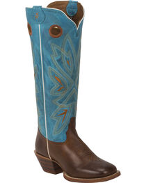Tony Lama Women's 3R Buckaroo Western Boots, Brown, hi-res