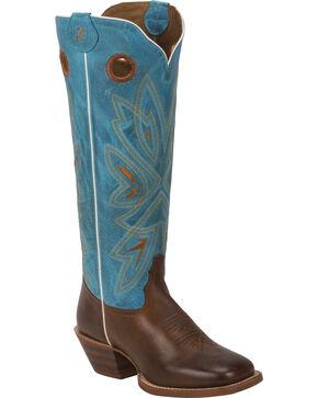Tony Lama Women's 3R Buckaroo Western Boots, Brown, hi-res