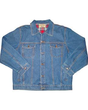 N40 Gear Men's Flannel Lined Denim Jacket, Med Blue, hi-res