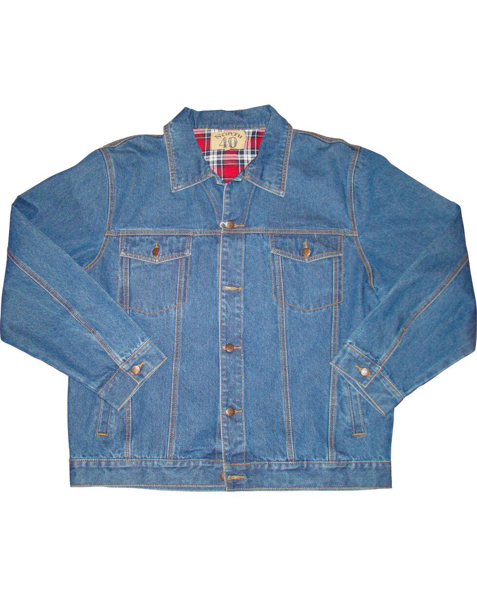 N40 Gear Men's Flannel Lined Denim Jacket, , hi-res