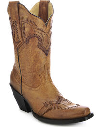 Corral Women's Short Western Boots, , hi-res