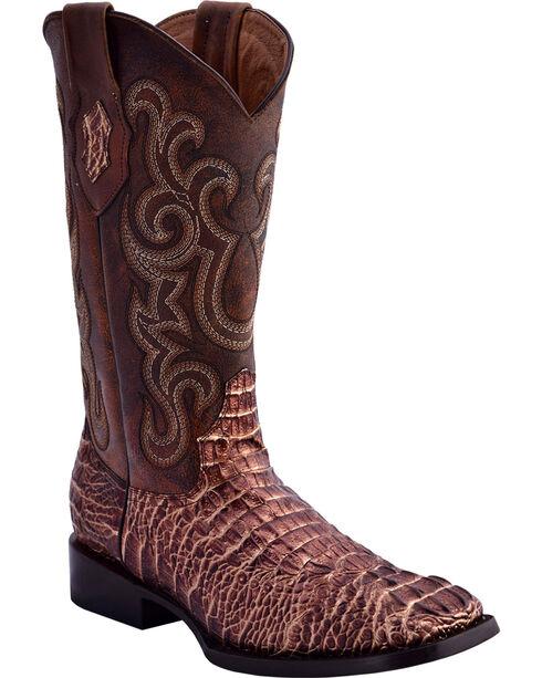 Ferrini Women's Caiman Print Western Boots - Square Toe, , hi-res