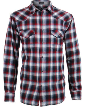 Cody James® Men's Castle Creek Plaid Long Sleeve Flannel, Grey, hi-res