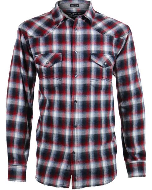 Cody James® Men's Castle Creek Plaid Long Sleeve Flannel, Grey, hi-res