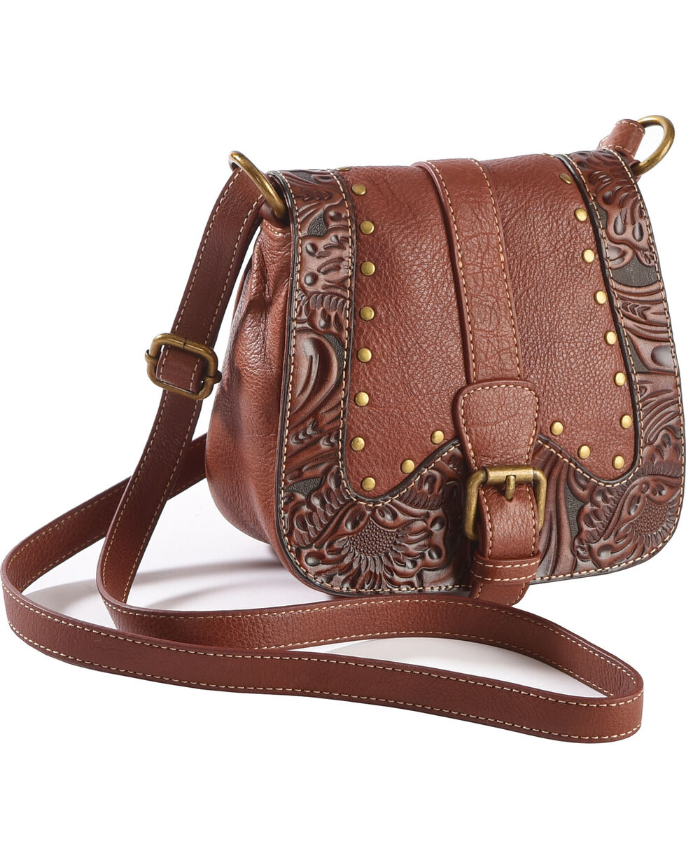 Trenditions Women's Brown Kindred Soul Jade Crossbody , Brown, hi-res