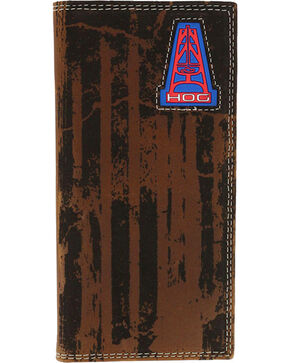 HOOey Men's Oil Gear Rodeo Wallet, Brown, hi-res