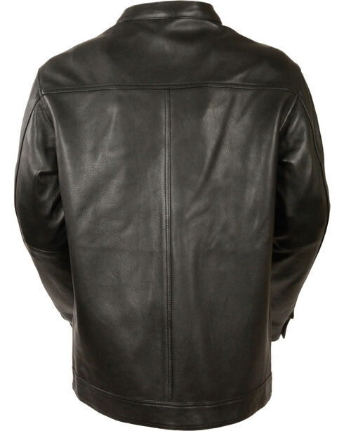 Milwaukee Leather Men's Black Club Style Shirt Jacket - Big 5X , Black, hi-res
