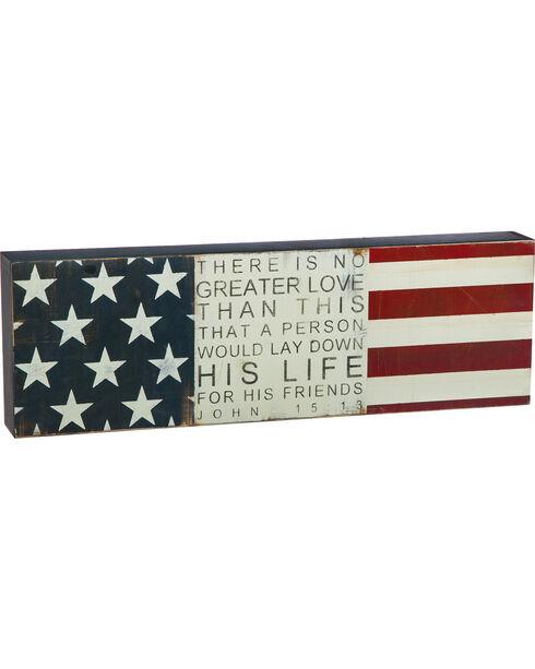 Cape Craftsmen John 15:13 Flag Wall Sign, No Color, hi-res
