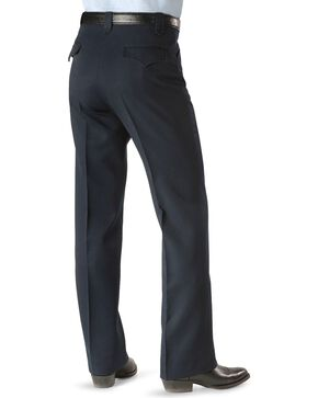 Circle S Men's Heather Ranch Dress Pants, Navy, hi-res