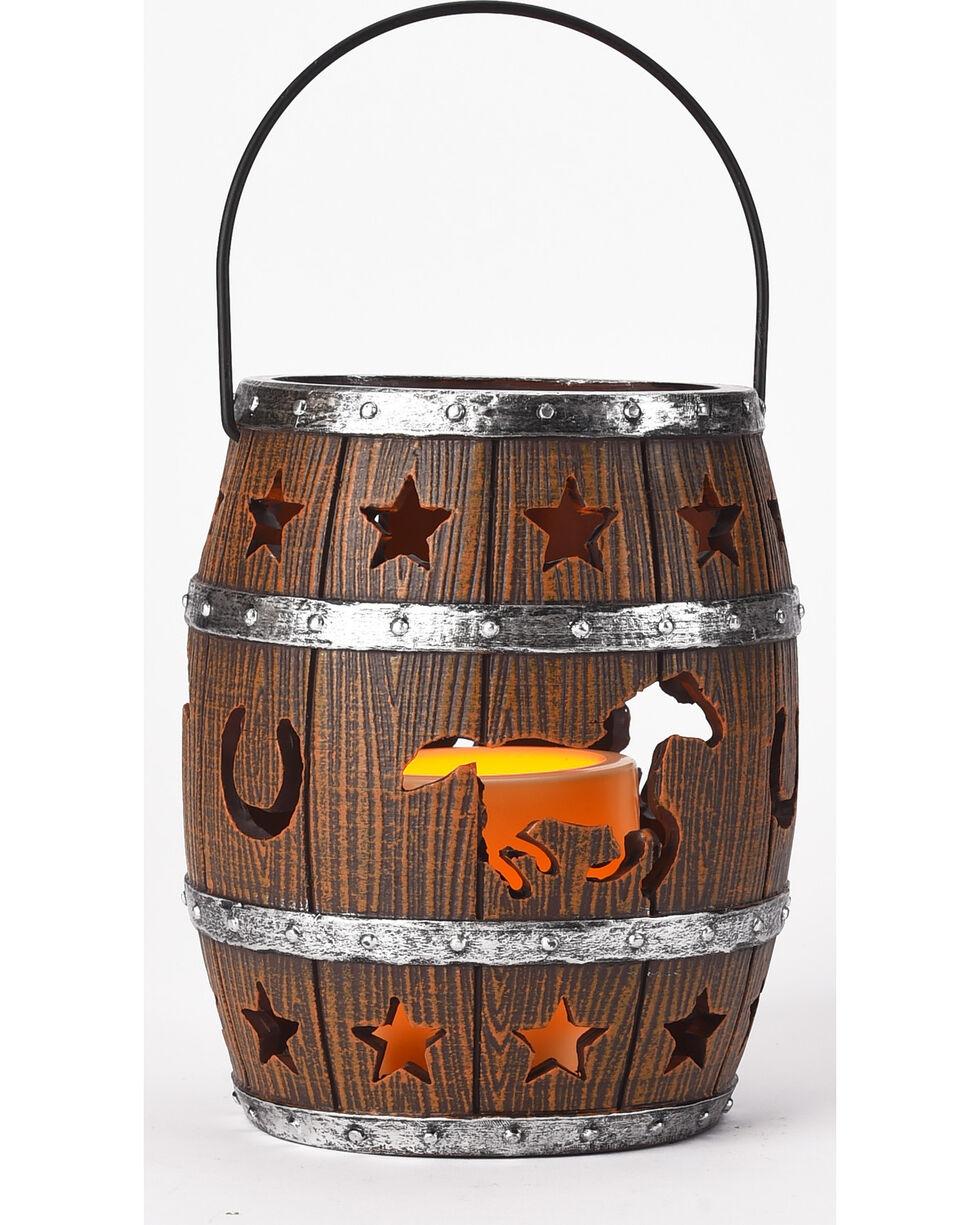 BB Ranch LED Barrel Lantern Decor, No Color, hi-res