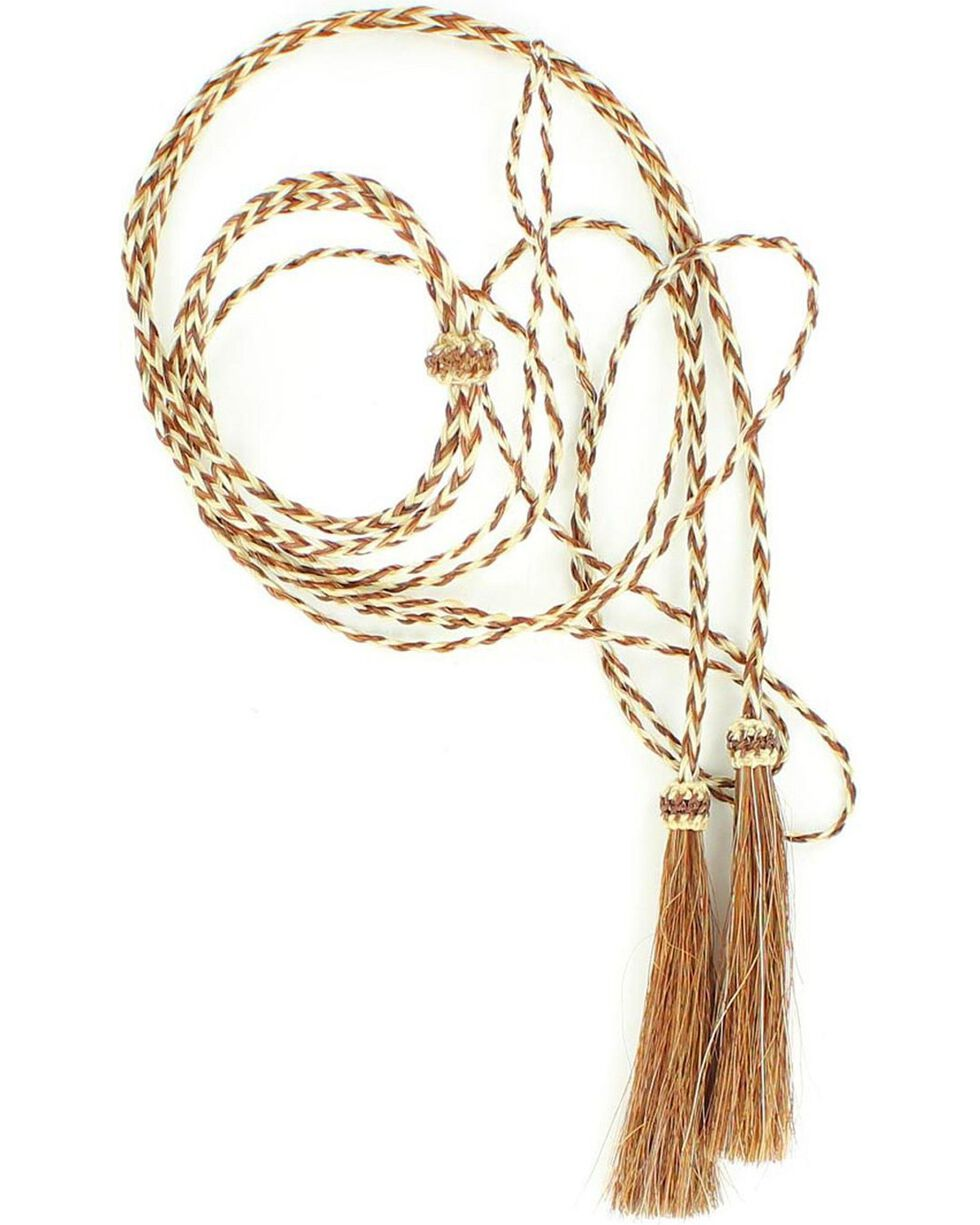 Tan & White Horsehair Stampede String, Rust, hi-res
