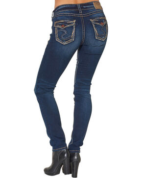 Silver Women's Suki Mid Skinny Jeans - Plus Size, Blue, hi-res