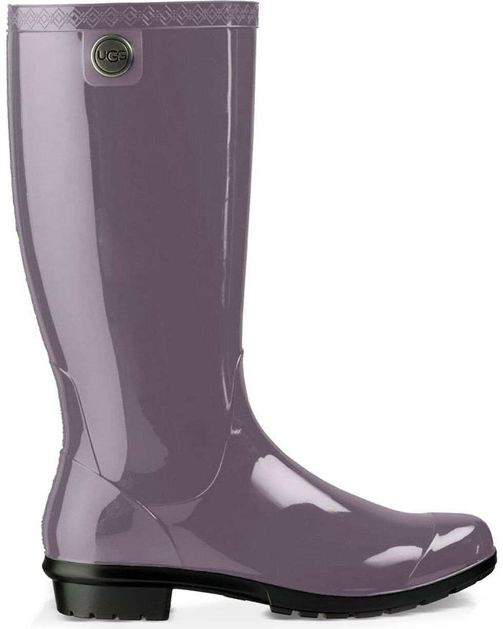 UGG Women's Grey Shaye Rubber Boots - Round Toe , Grey, hi-res