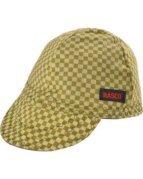 Rasco Men's Green Checkered Non-FR Welding Cap , Green, hi-res