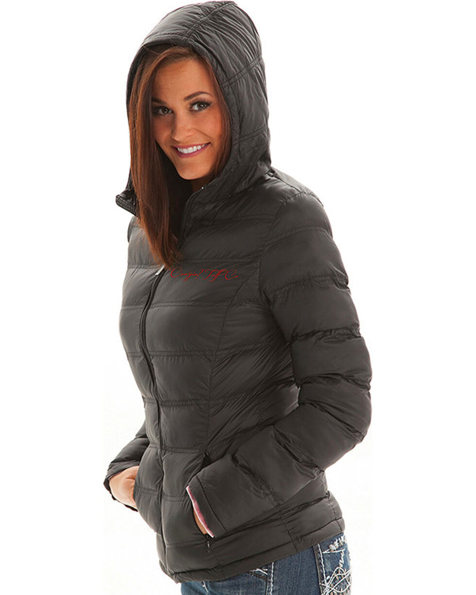 Cowgirl Tuff Women's Black Insulated Nylon Western Jacket , , hi-res
